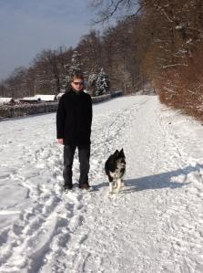 Jo&Abbey in the snow