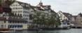 Limmat river through downtown Zürich