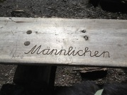bench reminding you which cute village you are in