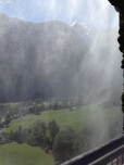a short hike to a view from behind the waterfall