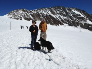 A walk in the snow, Jungfraujoch, Aug. 2013